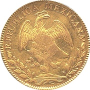 8 Escudos - Isabel II {counterstamped  on Mexico City Hank on Book 8 Escudos) – obverse