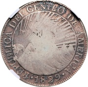 8 Reales - Isabel II (Counterstamp on Central American 8 Reales) – obverse