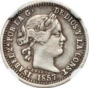 1 Peso - Isabel II (Pattern) – obverse