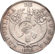8 Reales - Isabel II (Counterstamp on Colombia 8 Reales) – obverse