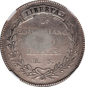 8 Reales - Isabel II (Counterstamp on Colombia 8 Reales) – reverse