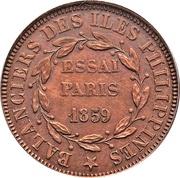 80 Reaux (Isabel II - Specimen) – reverse