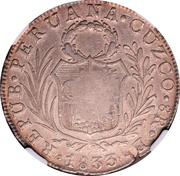 8 Reales - Ferdinand VII (Counterstamped on Peru Cuzco 8 Reales) – obverse