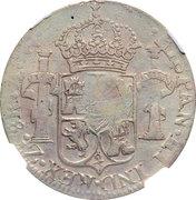 8 Reales - Ferdinand VII (Counterstamped Mexico 8 Reales) – reverse