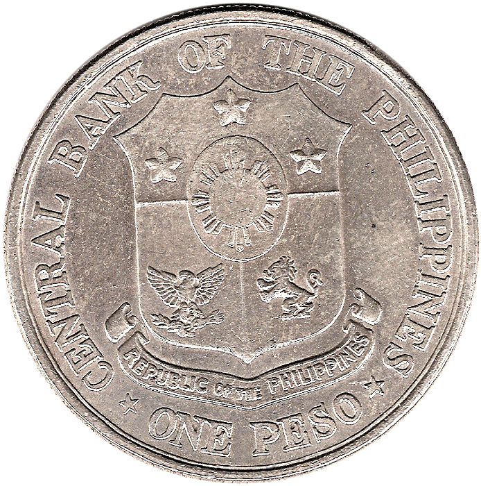 Central Bank Of The Philippines: 1 Peso (Birth Of Dr. Jose Rizal)