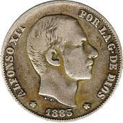 20 Centimos de Peso - Alfonso XII – obverse