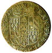 5 Soldi - Ranuccio II Farnese – obverse