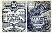 20 Heller (Pichl bei Windischgarsten; Blue issue) -  obverse