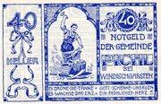40 Heller (Pichl bei Windischgarsten; Blue issue) -  obverse