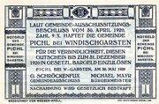 40 Heller (Pichl bei Windischgarsten; Blue issue) -  reverse