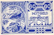 60 Heller (Pichl bei Windischgarsten; Blue issue) -  obverse