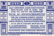 80 Heller (Pichl bei Windischgarsten; Blue issue) -  reverse