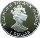 1 Dollar - Elizabeth II (Settlement; silver type) – obverse