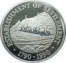 1 Dollar - Elizabeth II (Settlement; silver type) – reverse