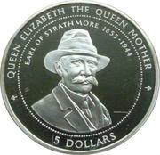 5 Dollars - Elizabeth II (Earl of Strathmore) – reverse