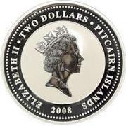2 Dollars - Elizabeth II (HMAV Bounty; Colorized) – obverse