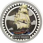 2 Dollars - Elizabeth II (HMAV Bounty; Colorized) – reverse