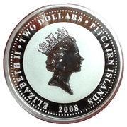 2 Dollars - Elizabeth II (Year of the Rat) – obverse