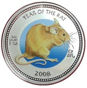 2 Dollars - Elizabeth II (Year of the Rat) – reverse