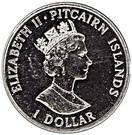 1 Dollar - Elizabeth II (Establishment of Settlement) – obverse