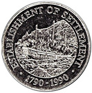 1 Dollar - Elizabeth II (Establishment of Settlement) – reverse