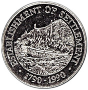 1 Dollar - Elizabeth II (Establishment of Settlement) – reverse
