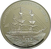 50 Dollars - Elizabeth II (Drafting of Constitution) -  reverse