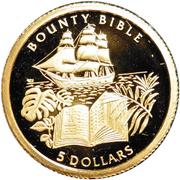 5 Dollars - Elizabeth II (Bounty Bible) – reverse