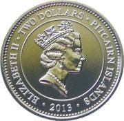 2 Dollars - Elizabeth II (HM Queen Elizabeth II Coronation Jubilee) – obverse