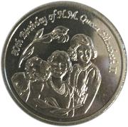 1 Dollar - Elizabeth II (80th Birthday of Queen Elizabeth II) – reverse