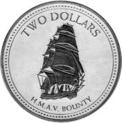 2 Dollars - Elizabeth II (3rd portrait; Proof Issue) – reverse