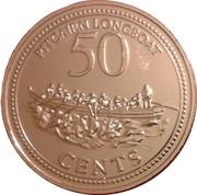 50 Cents - Elizabeth II (3rd portrait) – reverse
