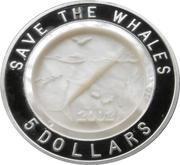 5 Dollars - Elizabeth II (Save the Whales) – reverse