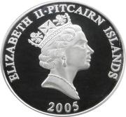 5 Dollars - Elizabeth II (H.M.S. Swallow) – obverse