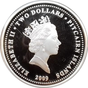 2 Dollars - Elizabeth II (Year of the Ox; partially gilted) – obverse