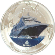 2 Dollars - Elizabeth II (Cunard Ship in color) – reverse