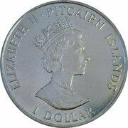 1 Dollar - Elizabeth II (Drafting of the Constitution) – obverse