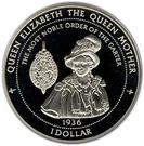 1 Dollar - Elizabeth II (The Queen Mother) – reverse