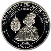 1 Dollar - Elizabeth II (The Queen Mother) – reverse