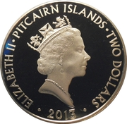 2 Dollars - Elizabeth II (Royal Variety Performance Show) – obverse