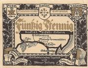 50 Pfennig (Ost-Holsteinisches Tageblatt und Plöner Zeitung) – obverse