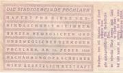 50 Heller (Pöchlarn) – reverse