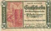 50 Heller (Pöchlarn) – obverse