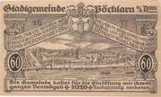 60 Heller (Pöchlarn) – reverse