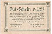 30 Heller (Pöndorf) -  reverse