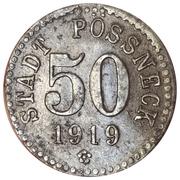 50 Pfennig - Pössneck – obverse