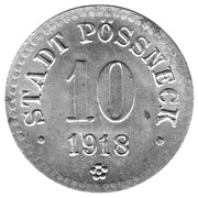 10 Pfennig - Pössneck – obverse