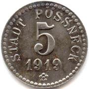5 Pfennig - Pössneck – obverse