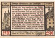 25 Pfennig (Goethe Series - Issue 1) – reverse