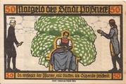 50 Pfennig (Goethe Series - Issue 5) – obverse